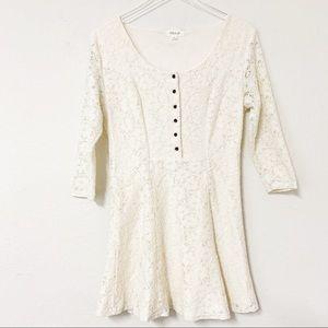 Taylor & Sage Cream Lace Mini Dress | Size Large